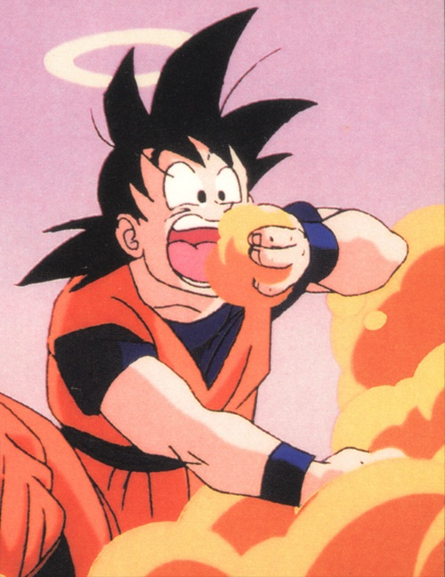 Goku eats anything.... even clouds #dbz