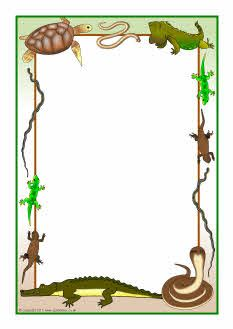 Reptiles-themed A4 page borders