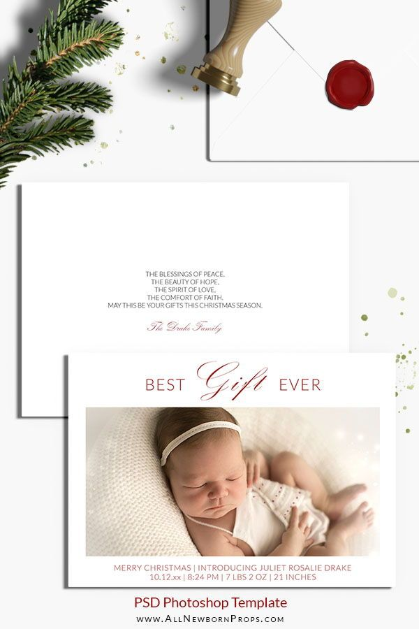 Christmas Card Photoshop Template Best Gift Ever All Newborn Props Newborn Christmas Photography Christmas Card Photoshop Newborn Christmas Photos