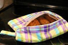 Microwave Potato Sack Tutorial by GYCT