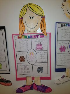Freebie!  Math About Me!  Nice idea for back to school or a parent visit night, etc
