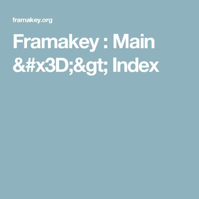Framakey : Main => Index