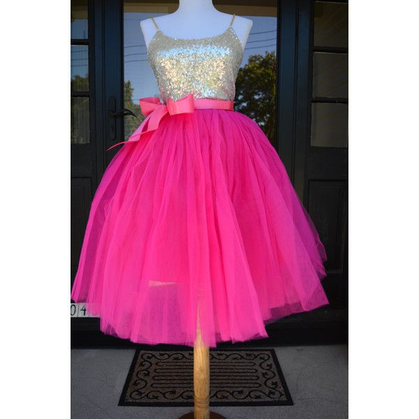 Magenta Pink Tutu Fuchsia Tulle Skirt Hot Pink Tutu Tulle Skirt Ballet... ($75) ❤ liked on Polyvore featuring purple, skirts, women's clothing and sash belt