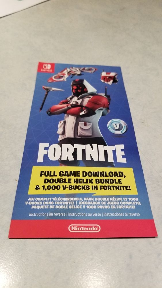 Fortnite Double Helix Set From Nintendo Switch Bundle No Console