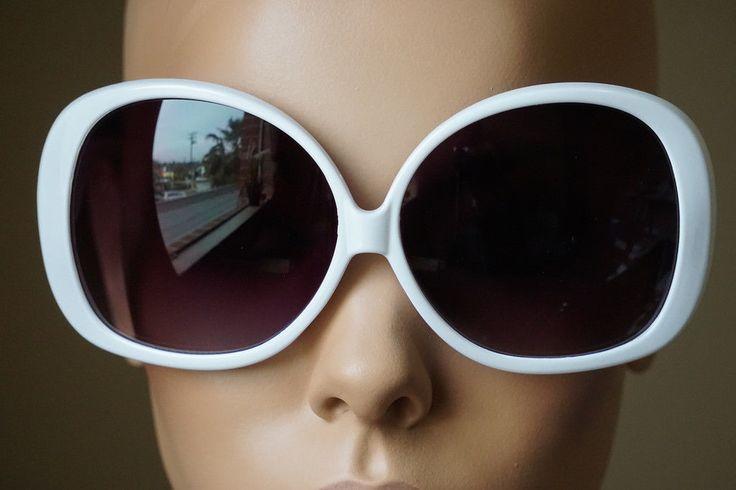 8.56$  Buy now - http://vigul.justgood.pw/vig/item.php?t=0zfnpb53747 - Super Oversized XXXL White Round Retro Fashion Celebrity Sunglasses 8.56$