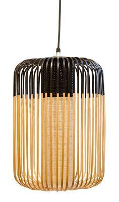 Suspension Bamboo Light L / H 50 x Ø 35 cm Noir / Naturel - Forestier - Décoration et mobilier design avec Made in Design