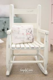 I have an antique childs rocking chair- thinking about redoing it something like this -----Simply Ciani: Step by Step: Annie Sloan Chalk Paint Tutorial