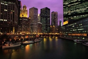 Imagine being able to see this in person. Big City Lights, Big City Dreams. Chicago at Night