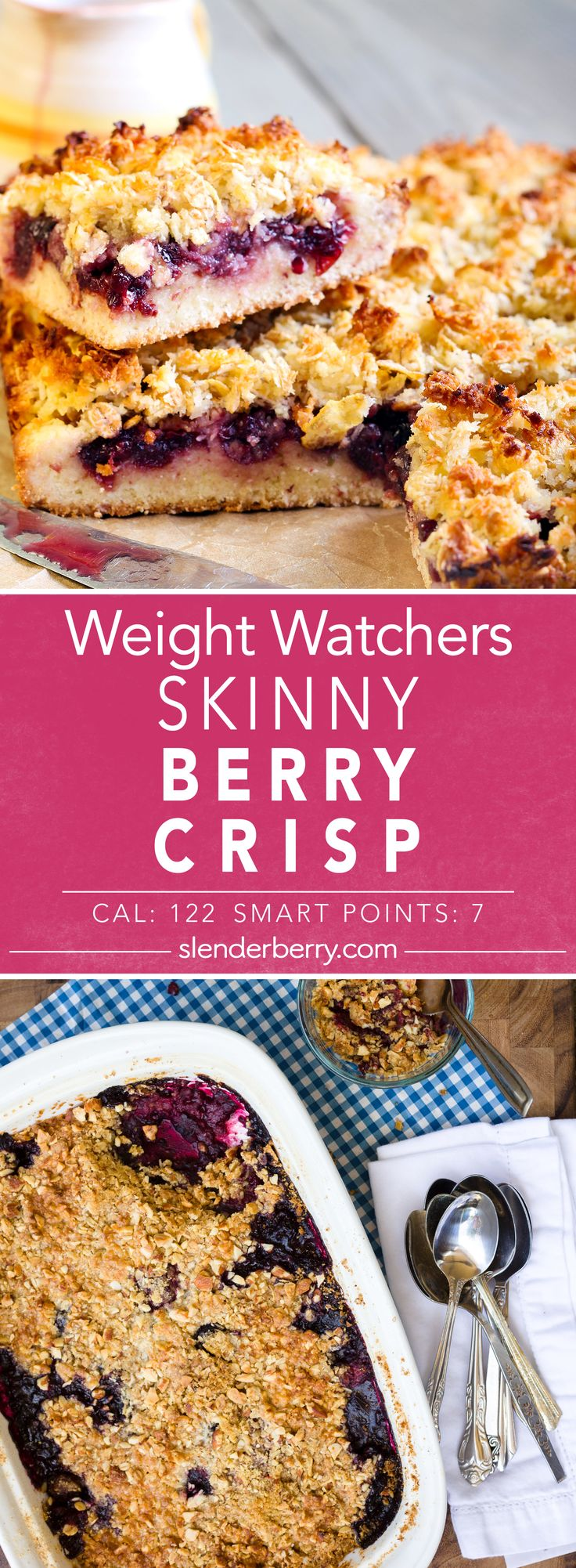 Weight Watchers Skinny Berry Crisp Recipe - 7 Smart Points 122 Calories