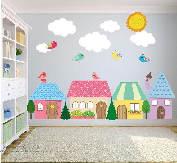 City Wall Decals Xl Nursery Wall Decal Wall Decals Nursery Baby