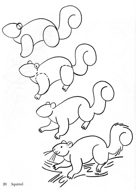 Como dibujar animales fácilmente para niños