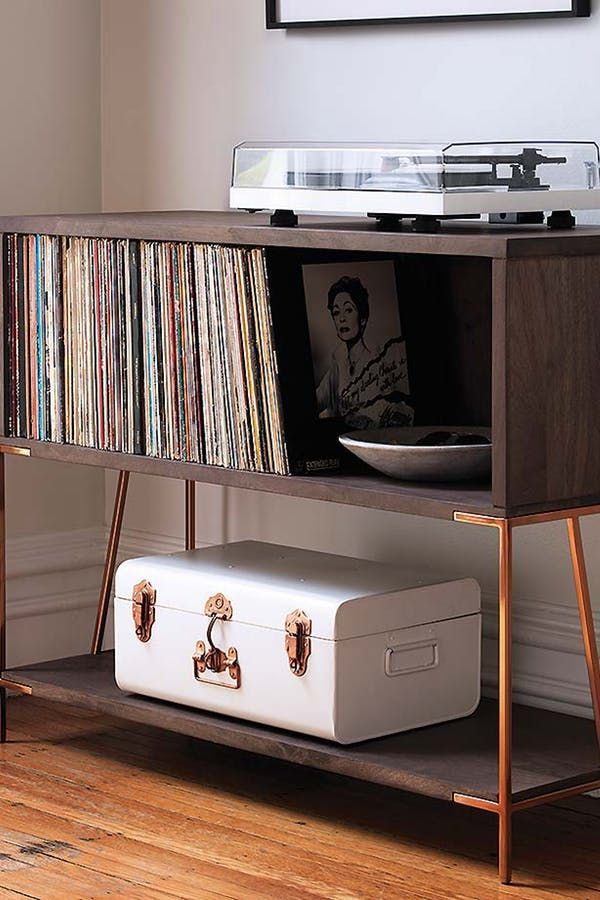 30 Ways To Add Storage To Every Room In Your Home Record Cabinet Vinyl Record Storage Shelf Vinyl Record Storage