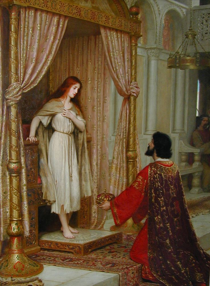 """This is another of my favorite paintings, unsurprisingly by the same artist as """"The Accolade"""".  I have a thing for the pre-Raphaelites in general. They like redheads."""