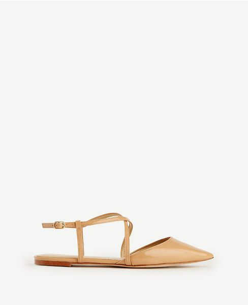 Primary Image of Wren Crossover Patent Leather Slingback Flats