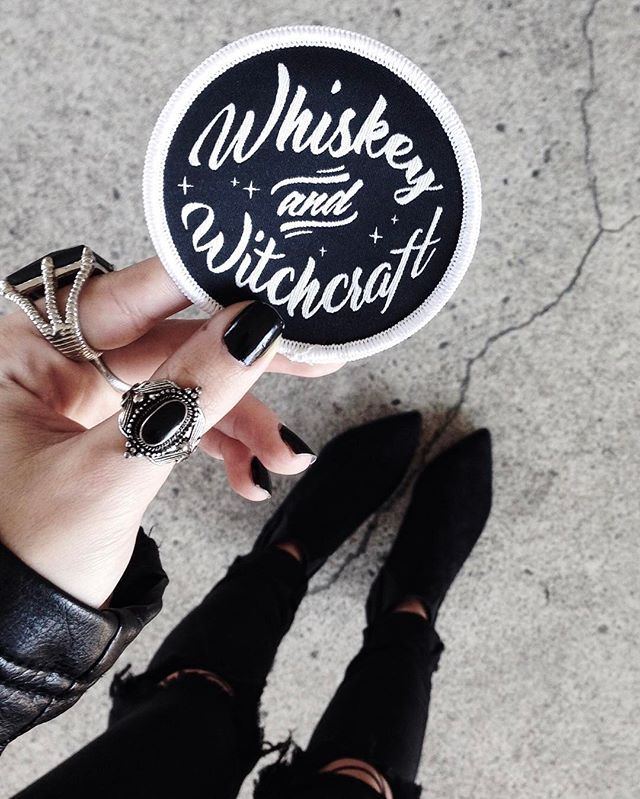 Whiskey And Witchcraft Patch - Trend: Pins + Patches at Gypsy Warrior