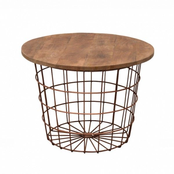Couchtisch Korb Clarence Kupfer Metall Mango Beistelltisch Sofatisch Tisch Couchtisch Korb Couchtisch Vintage Tisch Kupfer