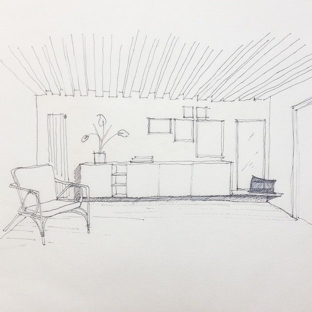 living room, drawing