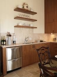 Image result for wood floating shelves kitchen