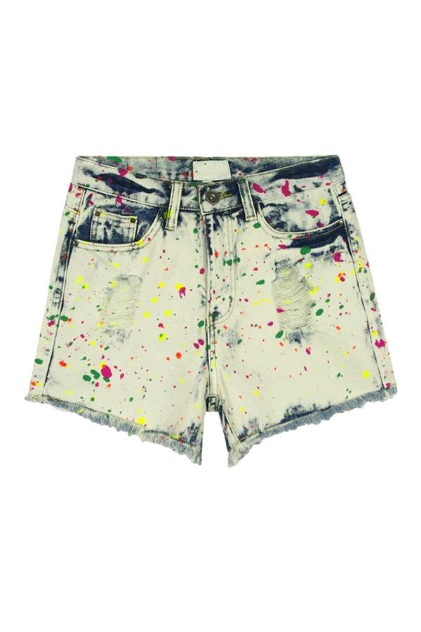 Tie-dyeing Denim Shorts