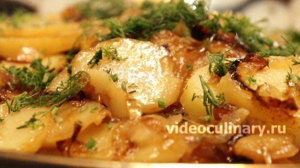 """Картофель тушёный с луком по-узбекски. (Картошка """"бийрон"""") от видеокулинария.рф"""