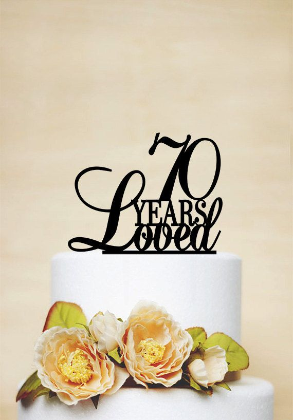 70th Anniversary Cake Topper70th Birthday by AcrylicDesignForYou