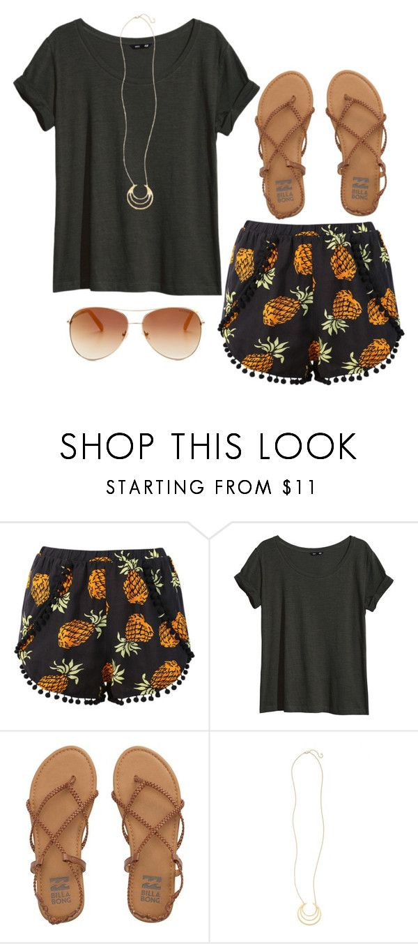 """""""Pom Pom Shorts"""" by twaayy ❤ liked on Polyvore featuring H&M, Billabong, BP. and Tommy Hilfiger"""