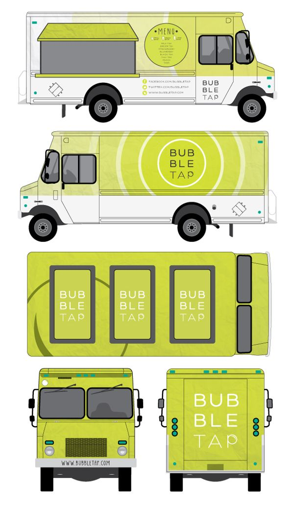 Bubble Tap Food Truck Branding by Diana Thai, via Behance