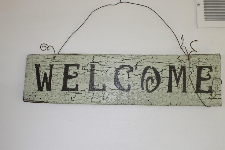 Old Barn Board Sign. $20.00, via Etsy.