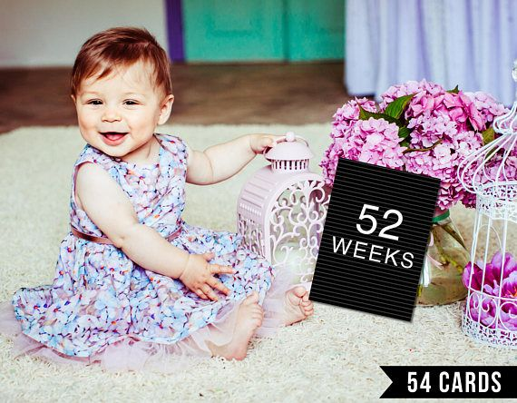 Baby Milestone Cards, Gender Neutral, Letter Board, Black and White, Weekly, Photo Prop, Photo Sign, First Year, Printable, Print, Vintage