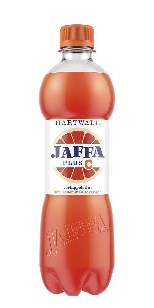 Hartwall Jaffa Plus -tuotteet sisältävät hyvää tekeviä vitamiineja ja 30% vähemmän sokeria kuin perinteiset virvoitusjuomat, ilman lisättyjä makeutusaineita. Hartwall Jaffa Plus C Veriappelsiini -uutuus on veriappelsiinin makuinen sitrushedelmäjuoma, johon on lisätty C-vitamiinia. Juoman luonnollinen maku tulee aidosta hedelmästä, sillä sen valmistuksessa on käytetty aitoa hedelmämehua kuten muissakin Hartwall Jaffa -tuotteissa.