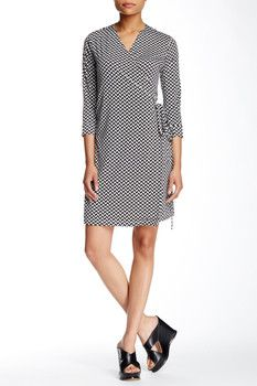 Romeo & Juliet Couture Printed Wrap Dress