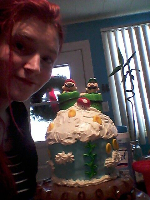 My and the mario bros cake