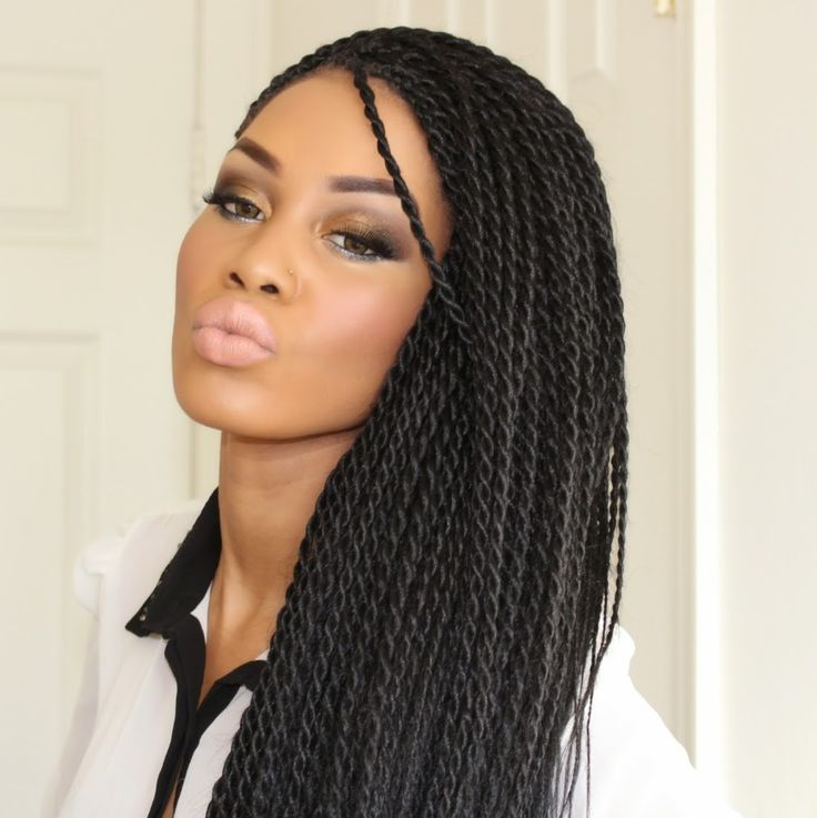 senegalese twist braids medium size - Google Search