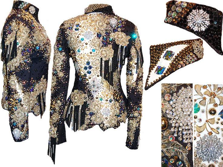 beautiful.    Black, Gold and White Jacket
