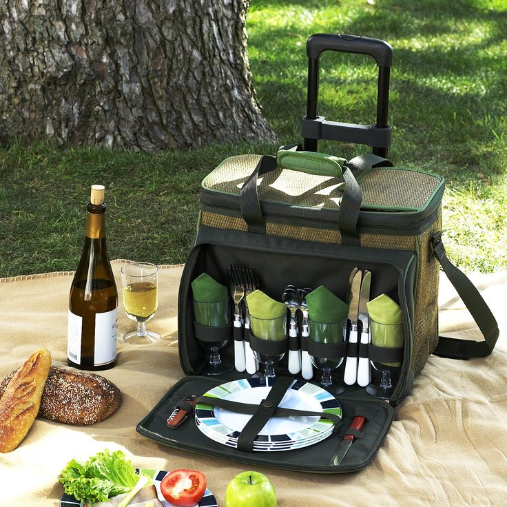 Picnic At Ascot Eco Picnic Cooler for Four with Wheels & Reviews | Wayfair