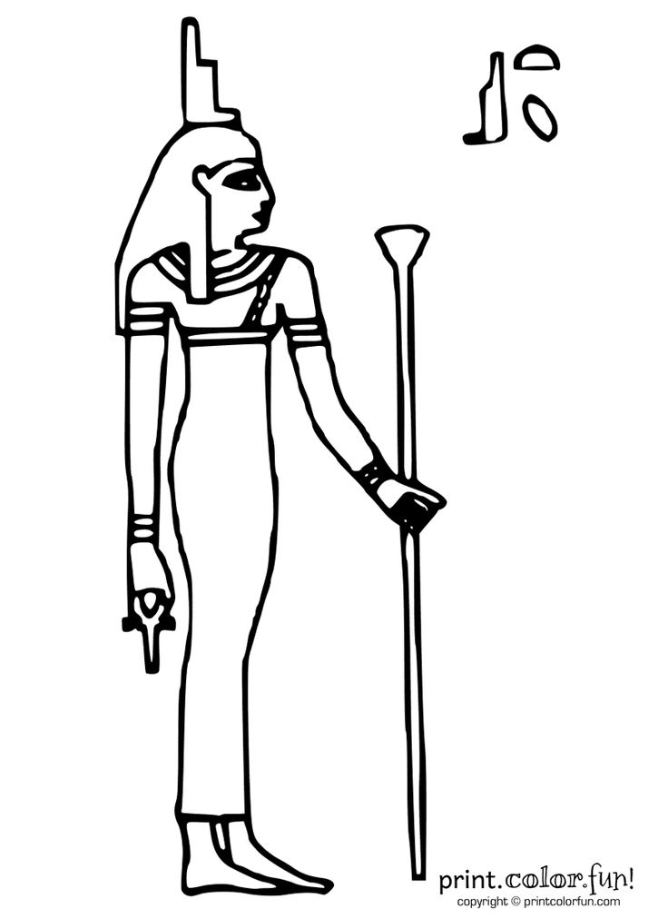 Egyptian Goddess Isis Coloring Page