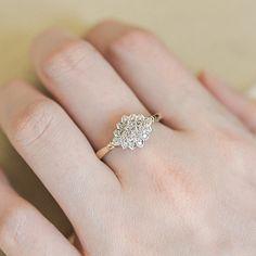 Beautiful Vintage Gold #Diamond Ring.  http://jangmijewelry.com/