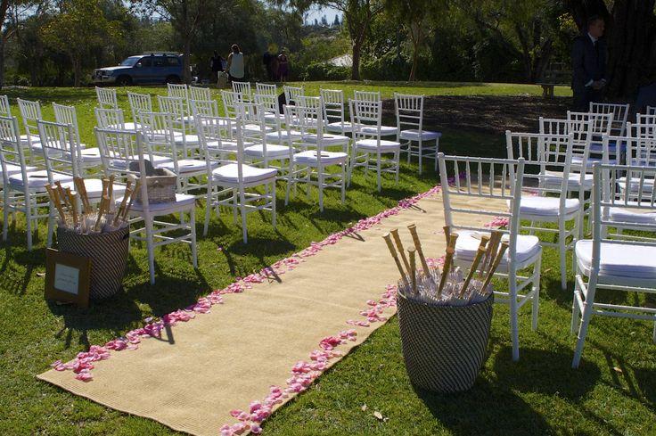 Ceremony. parasols. wedding
