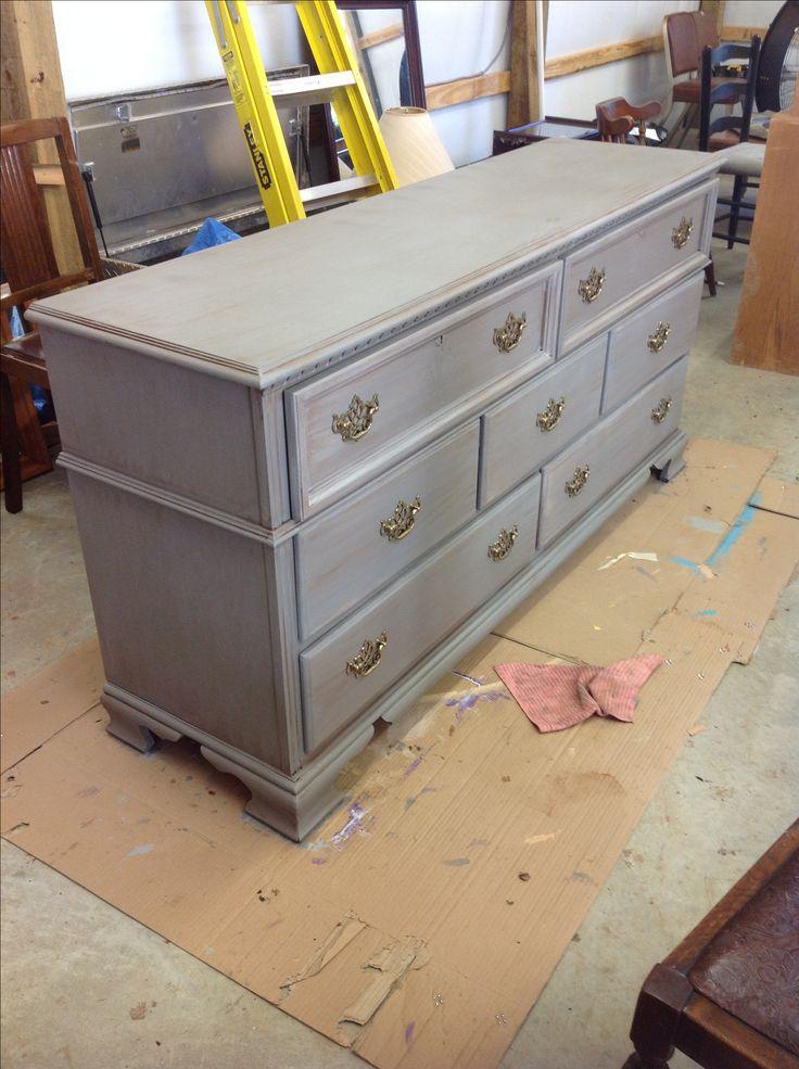 Gray Shabby Chic Dresser