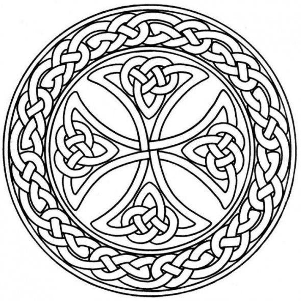 celtic mandalas coloring pages