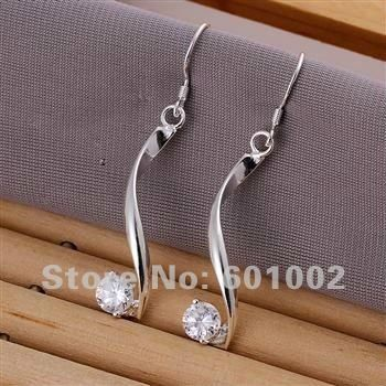 LQ-E185 Free Shipping 925 silver earrings wholesale 925 silver fashion jewelry earring anua jfba rwka US $2.08