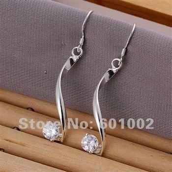 LQ-E185 Free Shipping 925 silver earrings wholesale 925 silver fashion jewelry earring anua jfba rwka US $2.08