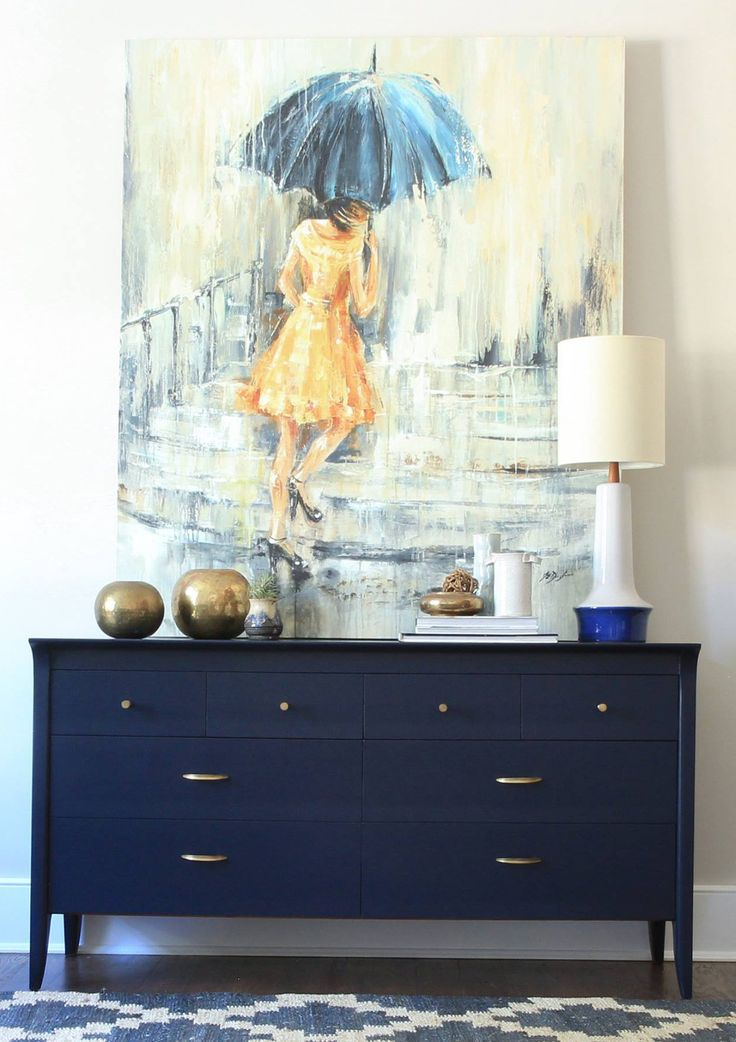 Green Spruce Designs spruced up this mid century dresser with General Finishes Coastal Blue Milk Paint.   Also follow Green Spruce Designs on Instagram at https://instagram.com/greensprucedesigns