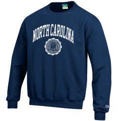 Champion UNC Seal Crewneck Sweatshirt - Navy