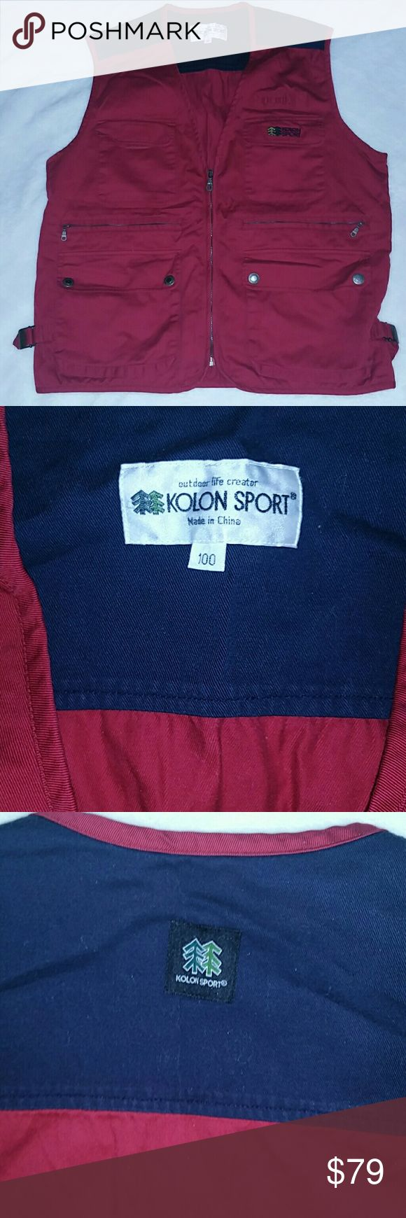 Kolon Sport Fishing Vest Men's Medium  Gorgeous condition Tons of pockets! Very well cared for Perfect for the upcoming fishing season or just to wear for function and style!  Very nice looking Kolon Sport Jackets & Coats Vests