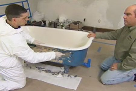 This Old House plumbing and heating expert Richard Trethewey shows how to save an old, but elegant, cast-iron bathtub.
