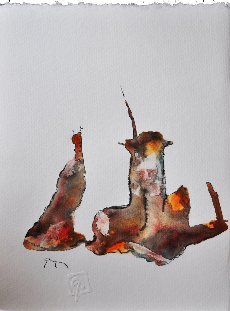 Haraszti lap No 13. (akv,tus,karton, 32x24 cm)