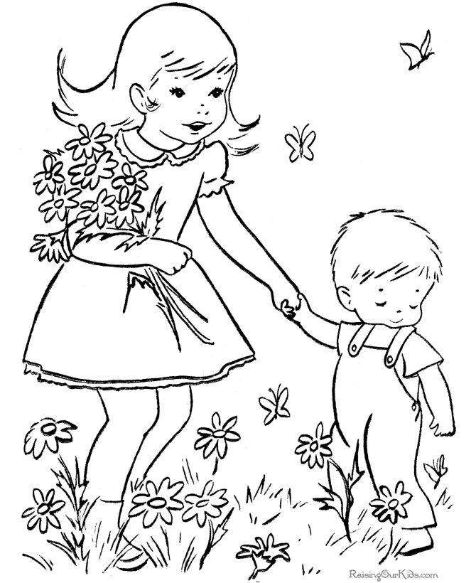 spring is a season which is awaited by some people with all the preparations spring coloring pages well liked by children coloring can to train the - Amish Children Coloring Book Pages