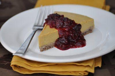 Gluten-Free Pumpkin Cheesecake (Vegan) - best with no sauce.