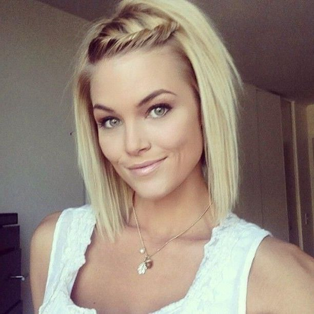 20 Stunning Hairstyles For Women With Thin Hair Frisuren Zopf Kurze Haare Flechtfrisuren Kurze Haare